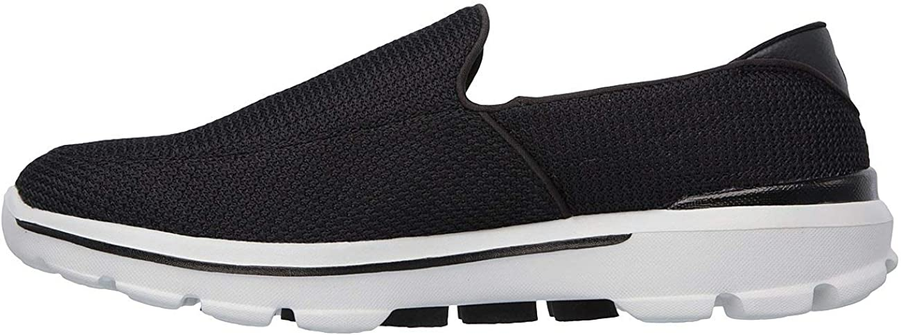 Skechers Go Walk 3, Baskets Basses Homme Black Grey