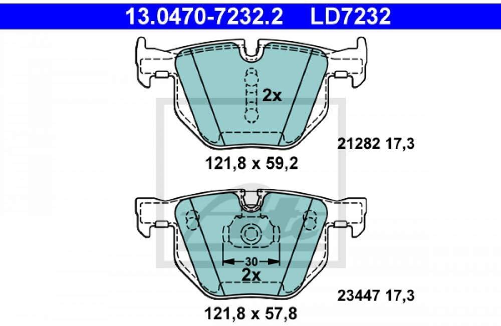 ATE 13.0470-7232.2 Kit de plaquettes de frein frein /à disque