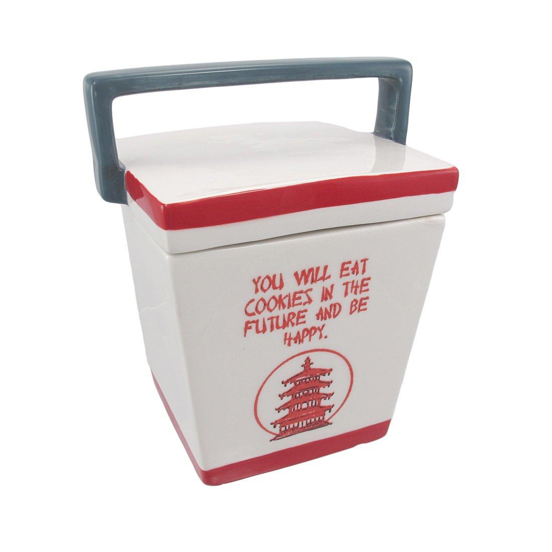 Take-Out Box Ceramic Cookie Jar