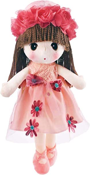 doll dress for 18 inch american girl small red heart flower on pink handmade 87