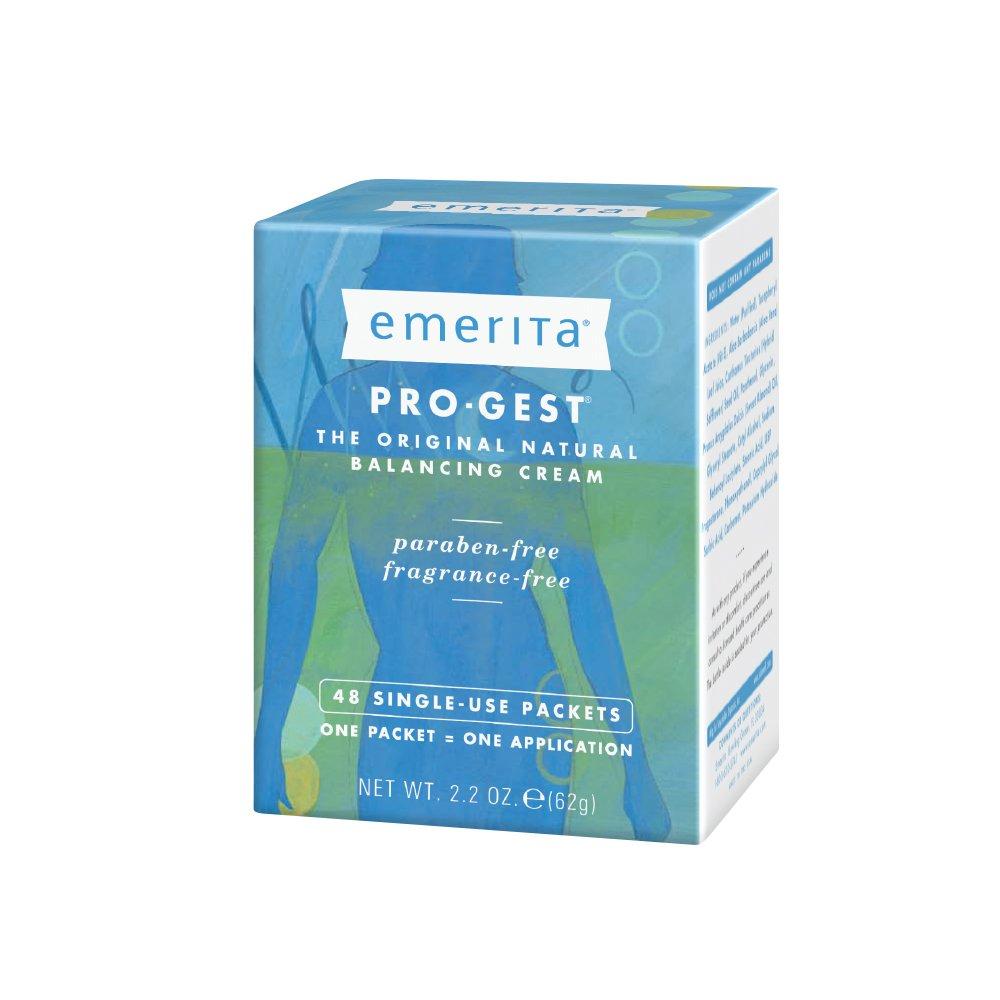 Emerita Pro-Gest Balancing Cream Single-Use Packets   USP Progesterone Cream from Wild Yam for Optimal Balance at Midlife   48 Packets