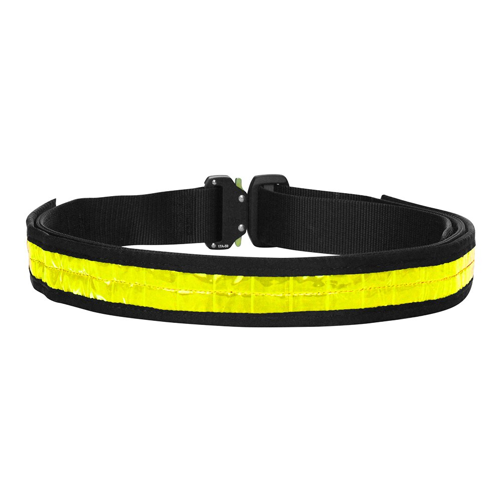 """Fusion Tactical Military Police High Visibility Reflektierende Gürtel Generation II Typ A Neon-Gelb 2X-Large 48-53"""" 1.75"""" Wide"""