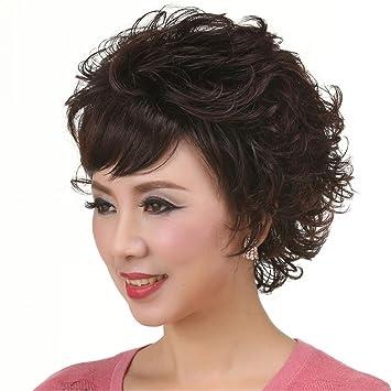 TT Moda pelucas de pelo corto y rizado peluca mullida cabello natural