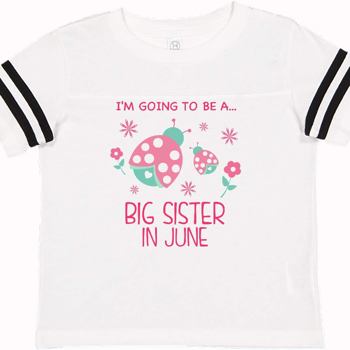 inktastic Im Gonna Be a Sister in June with Ladybugs Toddler T-Shirt