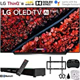 LG OLED65C9PUA 65' C9 4K HDR Smart OLED TV w/ AI ThinQ (2019) w/ Soundbar Bundle Includes, Deco Gear Home Theater Surround Sound 31' Soundbar, Flat Wall Mount Kit for 45-90 inch TVs and More