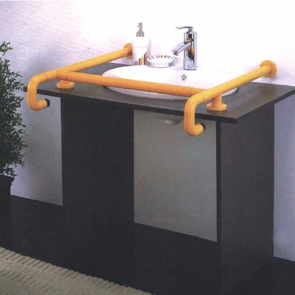 WAWZJ Handrail Bathroom Nylon Basin Hand Lavatory For Handicapped Disabled Handrails,Yellow