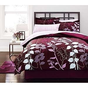 Amazon Com Purple Lavender Adult Flower Full Comforter