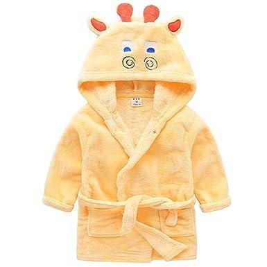 Bata de Baño Niños Encapuchado Ropa de Dormir Pijama Bata de Toalla Bata de Noche Camisón Niñas Ropa de Casa Lindo Animal: Amazon.es: Ropa y accesorios