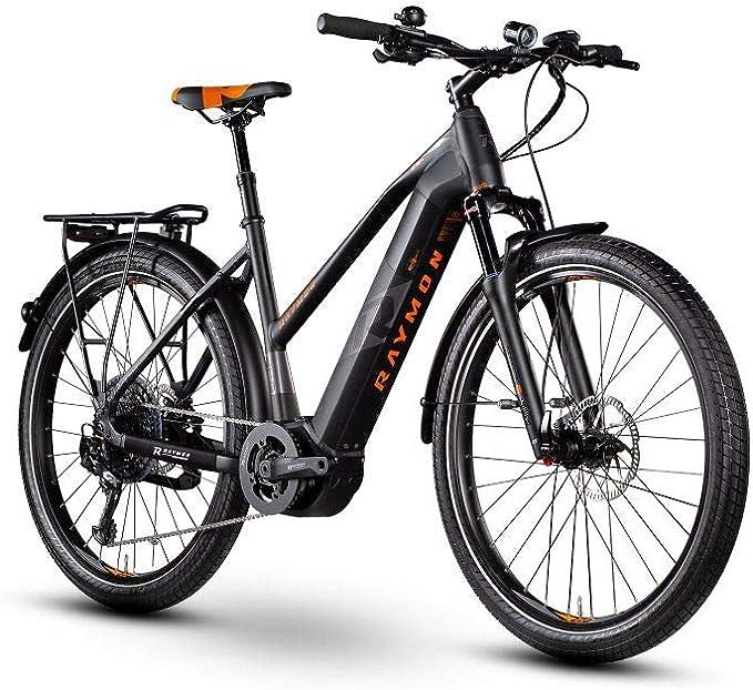 RAYMON E-Tourray LTD 2.0 Pedelec - Bicicleta eléctrica para Mujer, Color Negro y Naranja, tamaño 44 cm: Amazon.es: Deportes y aire libre