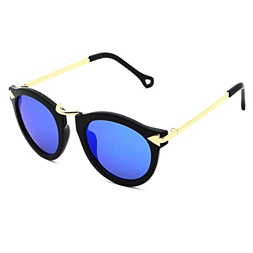 b0a1a9e5a4 Ronsou Womens Fashion Designer Polarized Sunglasses 100% UV400 Mirrored  Protection Sun Glasses black frame