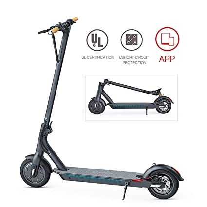 TOMOLOO Electric Scooter, Ultra-Lightweight Folding Electric Scooter for Adults, 18.6 Miles Long-Range Battery Up to 15.5 MPH with Double Braking ...