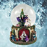 """Party Scene Musical Snow Globe Plays """"The Nutcracker Suite March"""" by Tchaikovsky"""