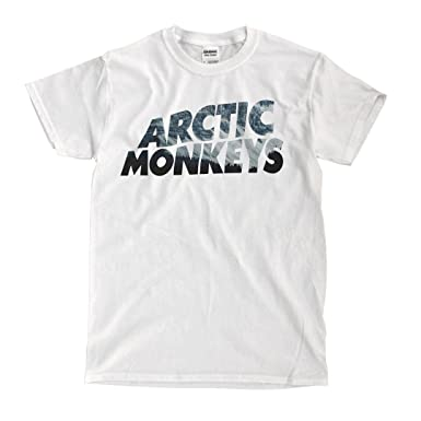 879086f5 Artic Monkeys - White T-Shirt | Amazon.com