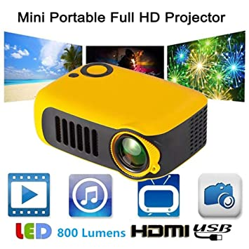 primrosely Proyector Led Proyector 1800 Lumen Mini Portátil Video ...