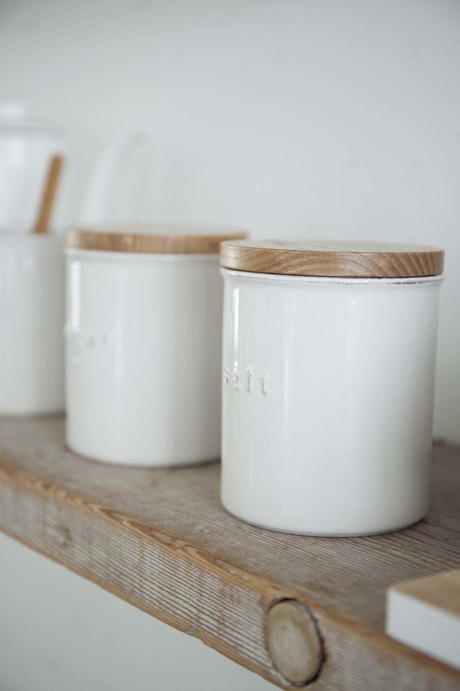Yamazaki Home Tosca Ceramic Canister – Dry Food Kitchen Storage Container Organizer.