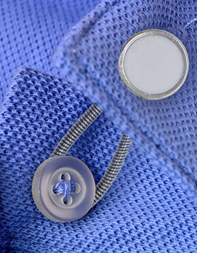 Collier Métallique Sungrace Et Boutons D'extension Pour Manteau Pantalon Robe Chemise (12pcs, Noir Et Blanc)