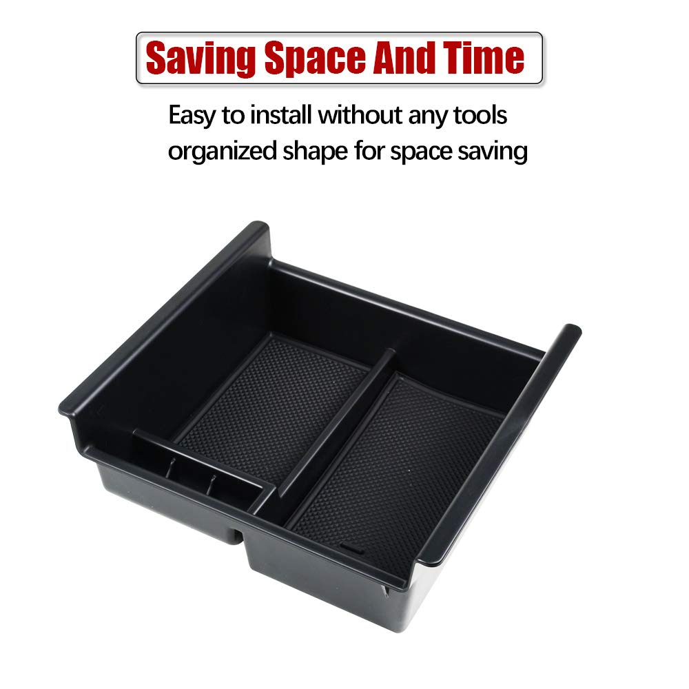 2010-2018 Center Console Organizer Armrest Storage Box ABS Black Tray Divider For Toyota 4Runner Center Console Tray Insert Organizer Tray Center 4XBEAM