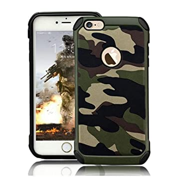 timeless design d82c7 37104 Protective Case for iPhone 5 5S Hybrid Heavy Duty Case SE Army Case Premium  Dual Layer Tough Rugged [Camouflage Design] Hard PC Back with Soft TPU ...
