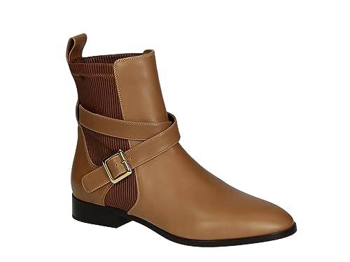 Botines de Chloé Mujer en Piel Camel - Número de Modelo: CH25210 - Tamaño: 39.5 EU: Amazon.es: Zapatos y complementos