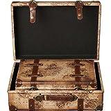 Vintiquewise(TM) Old World Map Leather Vintage