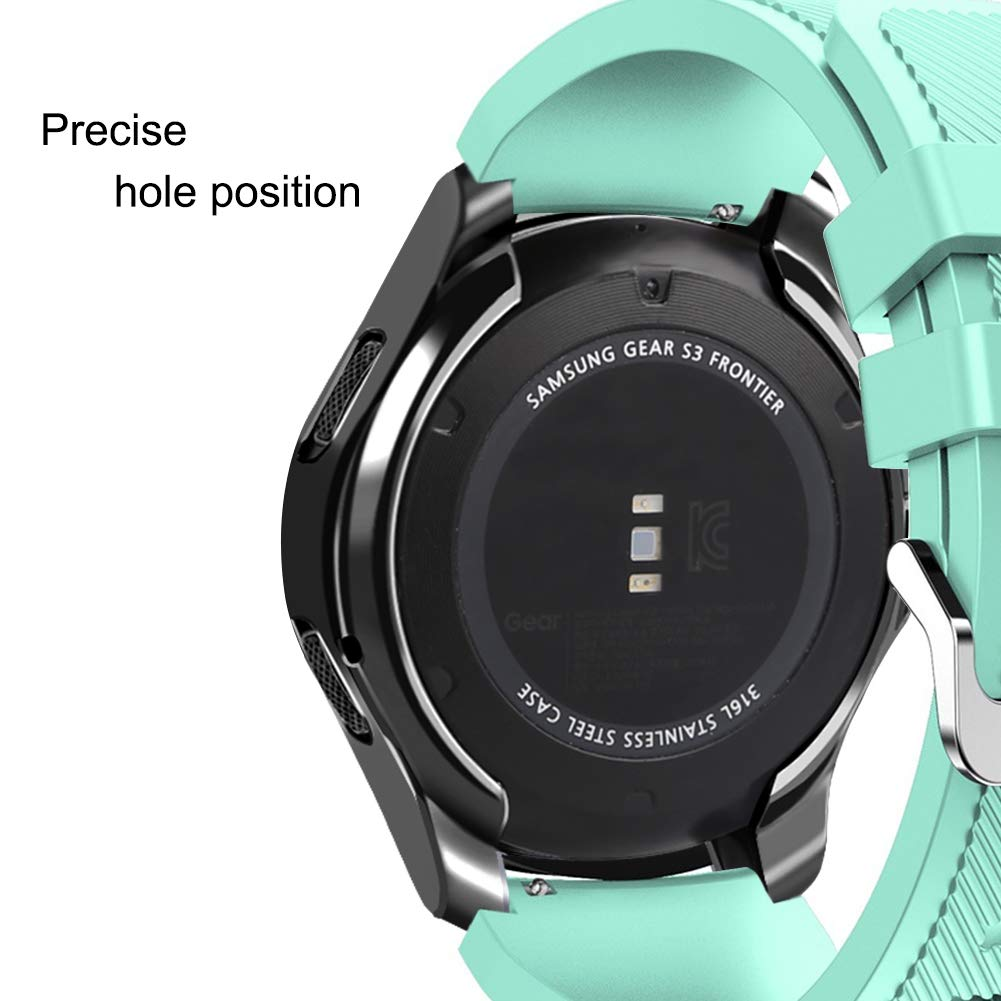 Case Compatible Samsung Gear S3 Frontier Sm R760 Bri Smartwatch R760ndaaxar Black Oenfoto Soft Tpu Plated Scratch Proof All Around Protective Bumper Shell For