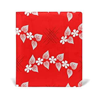 Deziro Red Flowers Book Covers Fits Hardcover Textbooks fino a 9x 11in