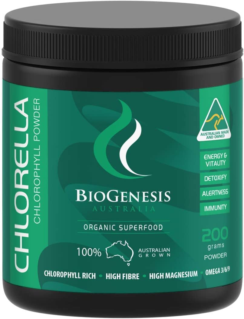 Chlorella Powder, Australian Grown, 7.05 oz 200g , Gluten Free, Non GMO, Organically Grown, Cracked Cell Wall, Highest Quality, Vegan, Free USA Shipping