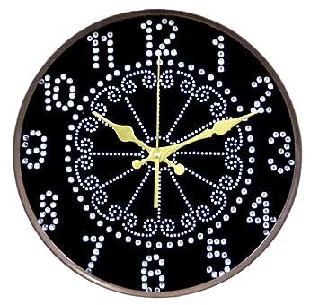 Relojes de pared 12 pulgadas de arte sala de estar tranquilo simple reloj creativo reloj de cuarzo reloj de cuarzo reloj moderno, coffee: Amazon.es: ...