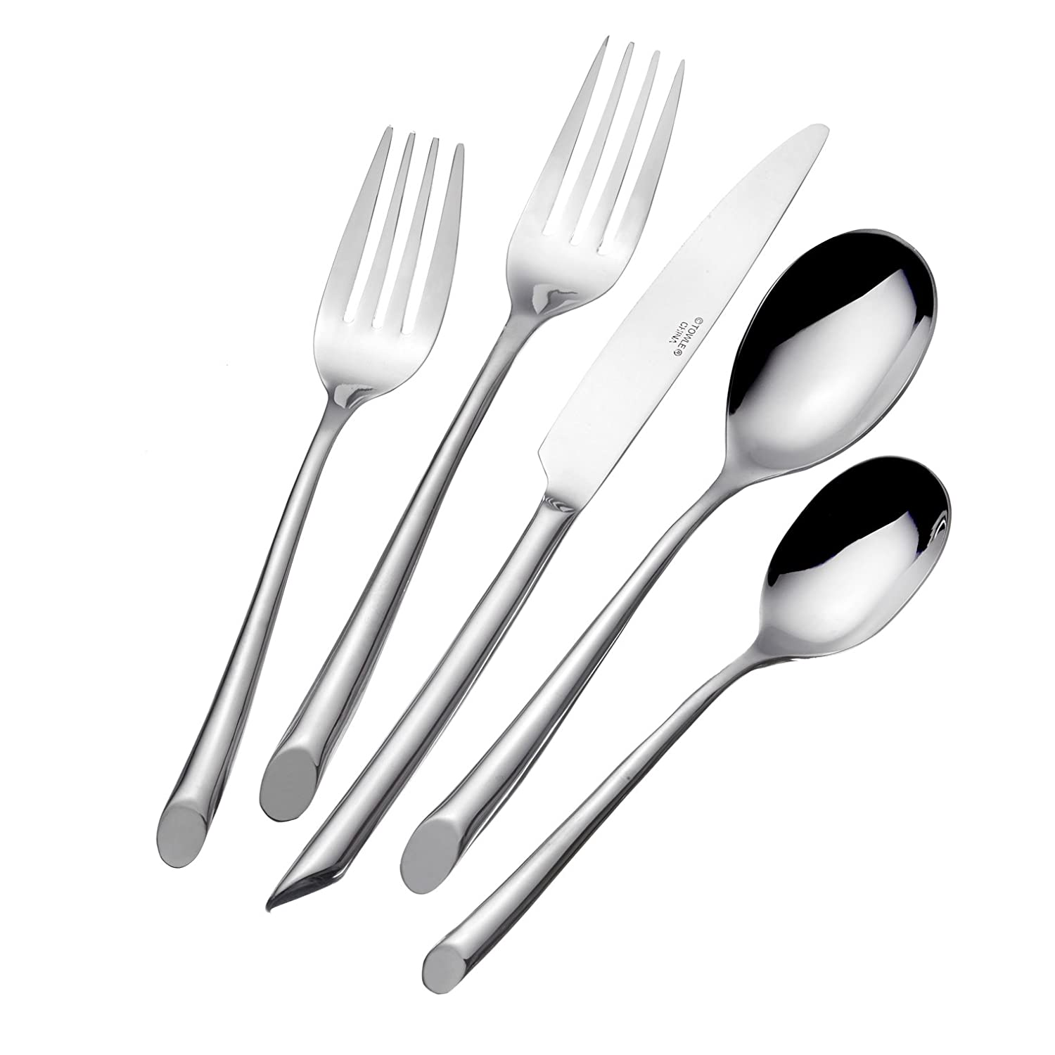 Towle Living 5005925 Wave 42-Piece Forged Stainless Steel Flatware Set, Service for 8