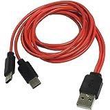 エスエスエーサービス 充電専用 USB Type-C 2股ケーブル [ 合計 5V/3A(15W) 通電対応 ・ 80cm ] SU2-TC80X2 SU2-TC80X2