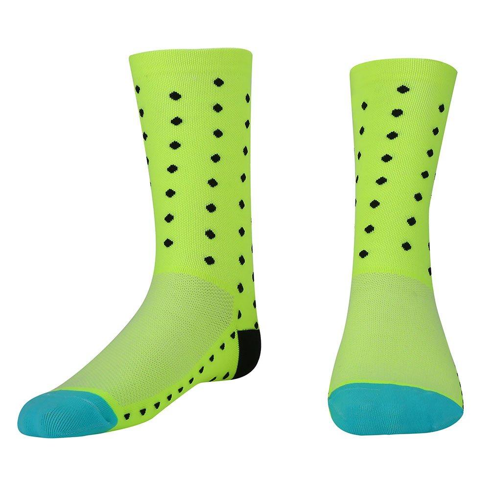 Filfeel Calze da Ciclismo Uomo Donna Calzini Sportivi Calf Running Socks 3D Assorbimento del Sudore in Nylon Traspirante Moda Professionale(Rosa)