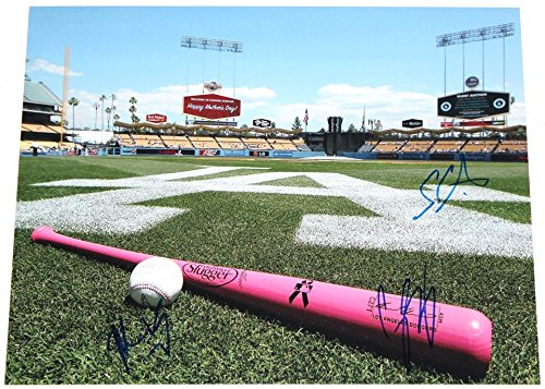 Los Angeles Dodgers 1st Round Picks Triple Signed 11x14 Photo With Seager / Kemp / Elbert Autographs COA (Clayton Kershaw No Hitter 8x10 compare prices)