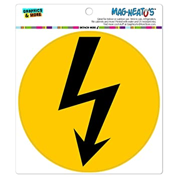 Graphics and More Hohe Spannung Symbol schwarz auf gelb mag-Neato \'s ...