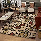 """Orian Rugs Floral Vine Ivory Area Rug (3'11"""" x 5'5"""")"""