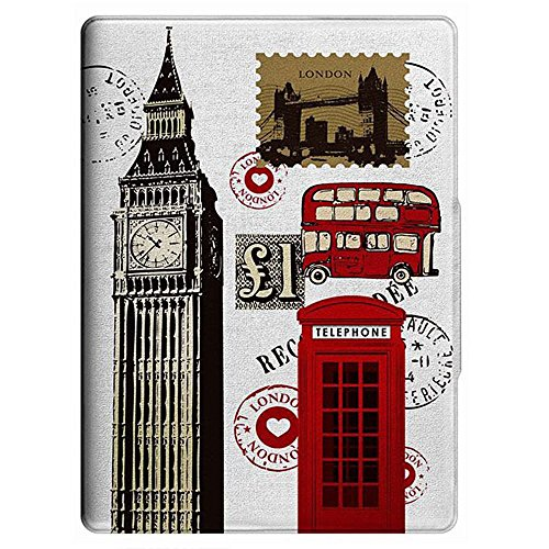 iPad 5 Case, iPad Air Case, CowCool(R) Hand-painted PU Leather Card Holder with Kickstand Case for Apple iPad 5 9.7 inch, London Bridge Booth double decker (Style02) (Bridge Double Decker)