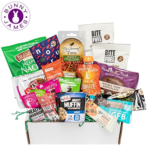 High Protein Snacks Fitness Box: Mix of Natural Gourmet...