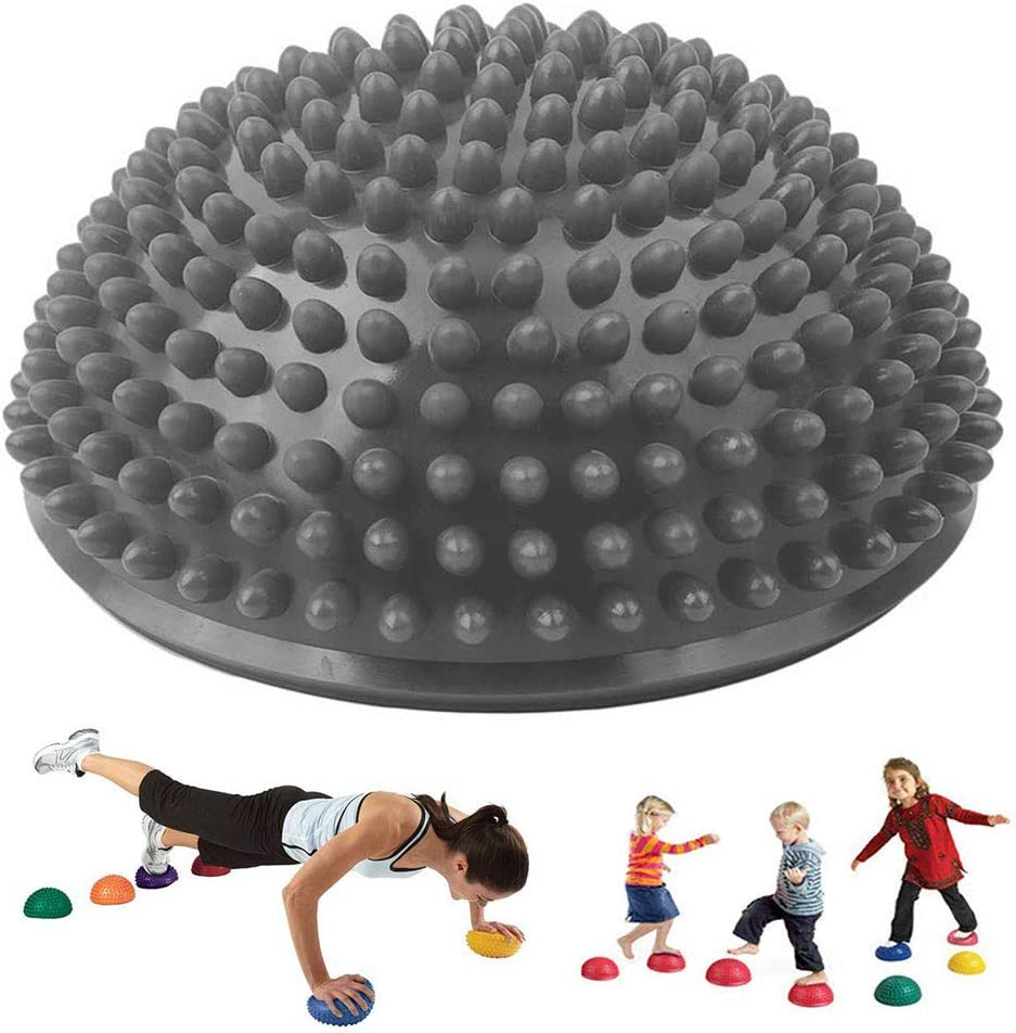 Yoga Pillow Balance Hedgehog Fitness Balance Ball Fitness Hemisphere with pimples Gymnastics Hedgehog Ball for Pilates Yoga Fitness Gymnastics