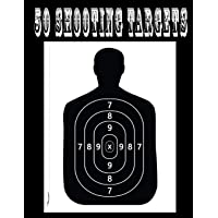 "50 Shooting Targets 8.5"" x 11"" - Silhouette, Target or Bullseye: Great for all Firearms, Rifles, Pistols, AirSoft, BB & Pellet Guns"
