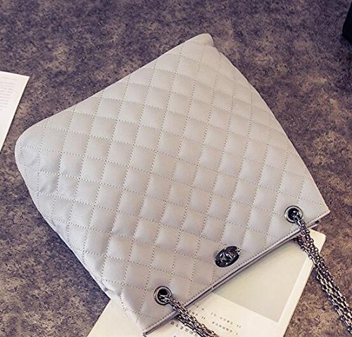 Meaeo grey Cadena Handbag Europa Bolsa Lady Gris Bolso Y De Claro Rhombus Light Bolsa OzrxOqI