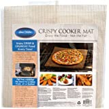 Set of 3 Crispy Cooker Mats, Reusable, Crisping, Mesh, Crisper Screen, Perfect Circulation Around Food, Crunchy Food Without Oil & Fat, Oven Certified, Grill Like Taste, Healthy & Fat Free Alternative
