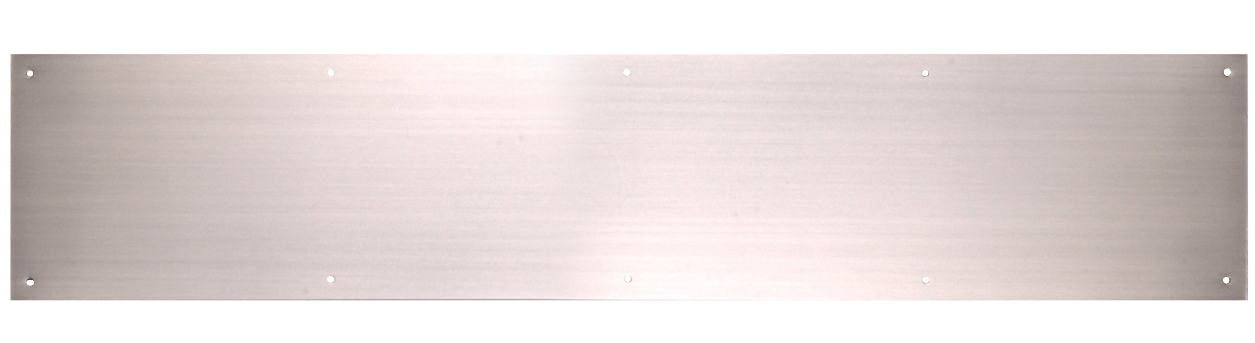 The Hillman Group 852742 6 x 30'' Aluminum Kick Plate - Satin Nickel Finish 1-Pack