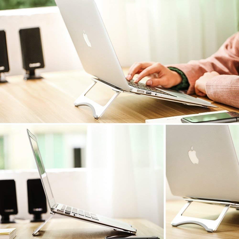 Argento Supporto per PC Portatile 11-15.6 Pieghevole e Laptop Stand Alluminio con Design Ergonomico e Stabile per iPad MacBook Surface e altri Portatili Wivarra Supporto Notebook
