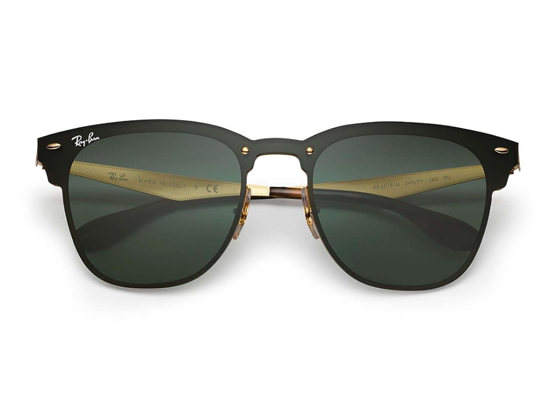 Ray-Ban BLAZE CLUBMASTER oro clásico verde G-15 47 gafas de ...