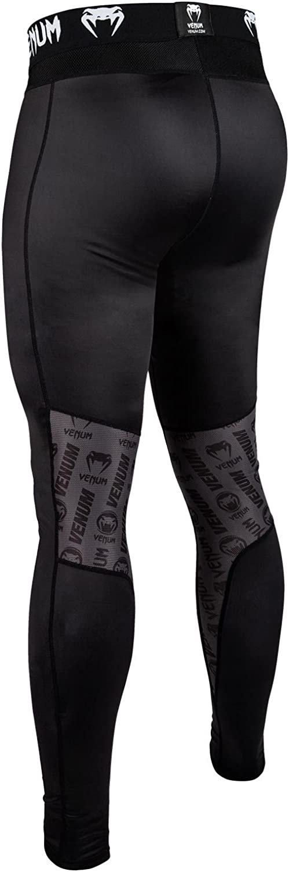 Color Negro//Blanco VENUM Hombres Pantalones de compresi/ón de Logotipos Hombre tama/ño Large