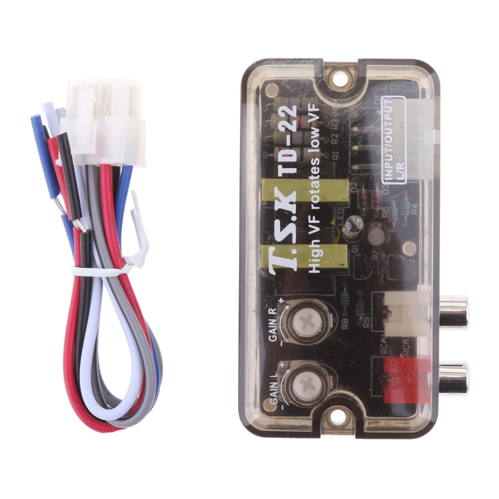 Sharplace Adjustable Auto Car Stereo Speaker to RCA Converter High VF to Low VF Line Level Cable