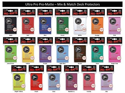 600 Ultra Pro PRO-MATTE Deck Protectors MIX & MATCH (12x 50ct Packs) Sleeves Standard MTG Size Black, Blue, Red, Etc. Your Choice from 16 Available ()