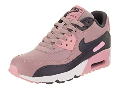 e2a2bc853db Nike Air Max 90 Leather Big Kids  Shoes Elemental Rose Gridiron Pink