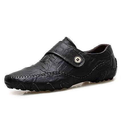 Xiaojuan-shoes, Mocasines Casual Drive para Hombre The New Octopus Soft Bottom Transpirable Mocasines