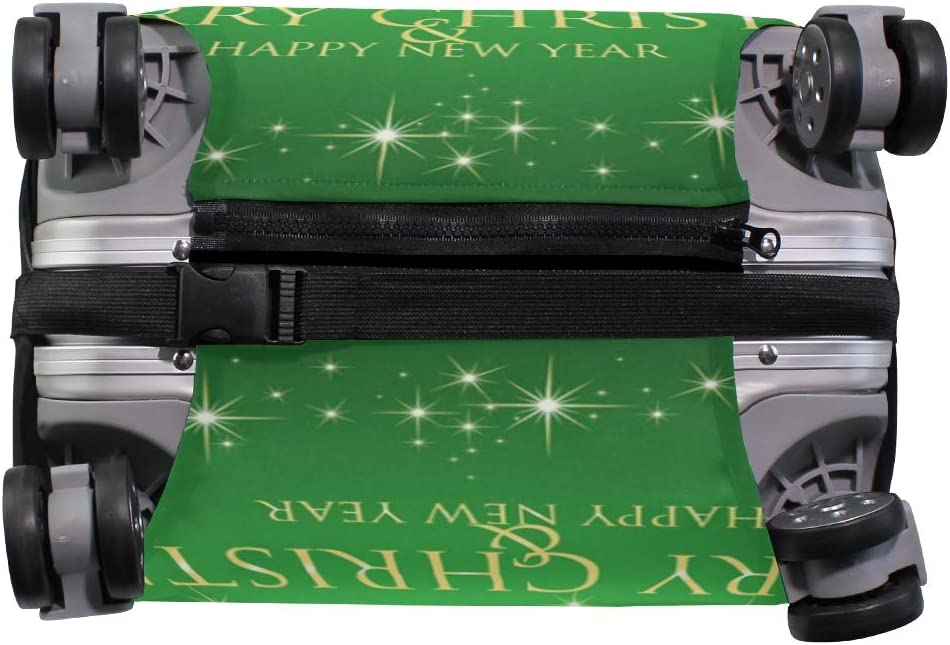 GIOVANIOR Merry Christmas /& Happy New Year Luggage Cover Suitcase Protector Carry On Covers