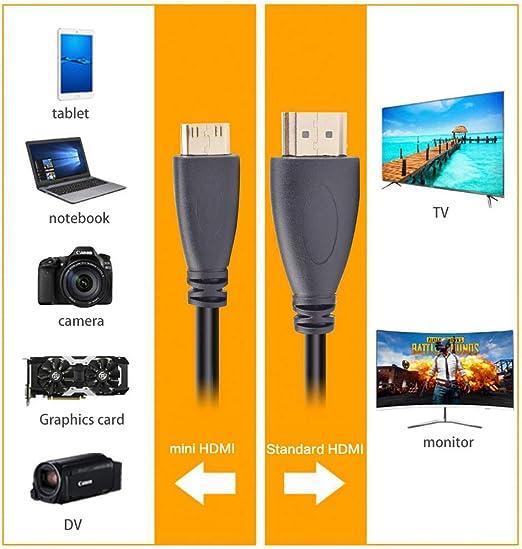 Alitutumao - Cable de cámara Mini HDMI a HDMI Compatible con ...
